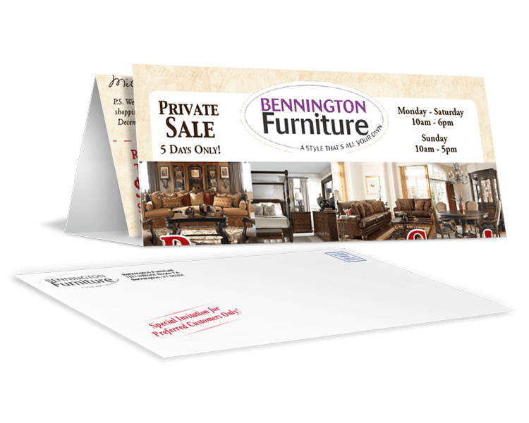 furniture direct mail promotions