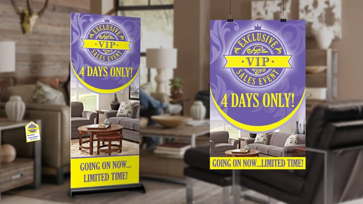 furniture sign packages for stores